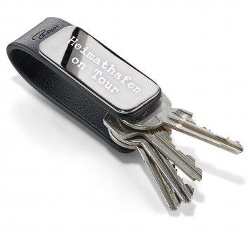 Leder Schlüsselanhänger Patent von Philippi mit Gravur