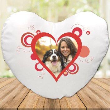 Herzkissen mit Herzcollage und Fotodruck