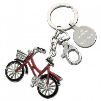 Red Bike Schlüsselanhänger mit Gravur
