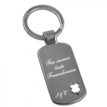 Dogtag Schlüsselanhänger mit Symbolen und Gravur