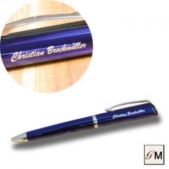 Drehkugelschreiber Profil blau mit persönlicher Gravur