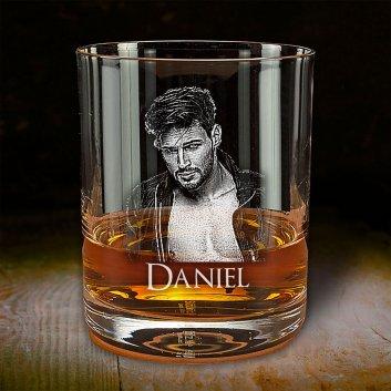Whiskyglas Groß mit Fotogravur