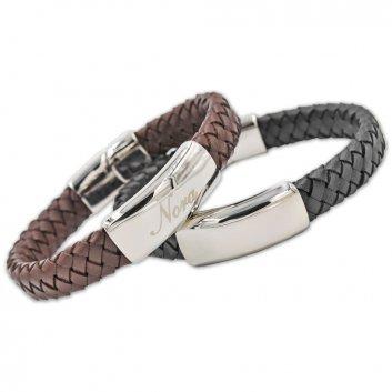 Geflochtene Armbänder mit Gravur