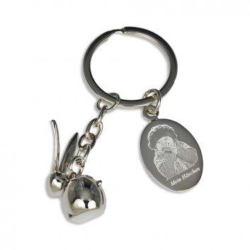 Schlüsselanhänger Häschen mit Fotogravur