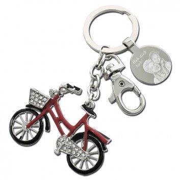 Red Bike Schlüsselanhänger mit Fotogravur