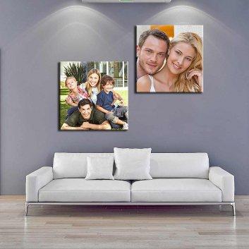 Fotoleinwand mit bedruckten Bildern in Format 40x40 cm