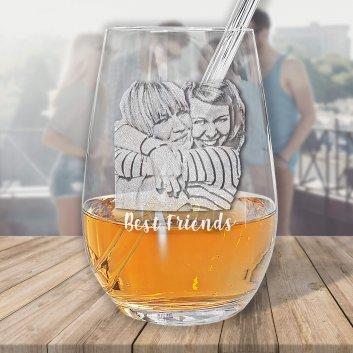 Wasserglas 0,4L mit Fotogravur