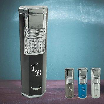 Formula Turbo-Gasfeuerzeug in 4 verschiedenen Farben mit Initialen-Gravur