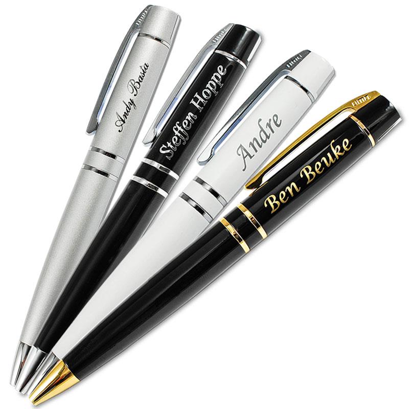 Kugelschreiber Metallkugelschreiber mit Gravur Geschenk hellgold