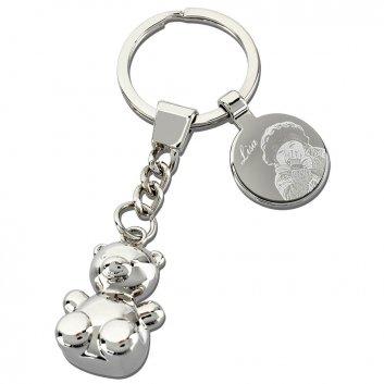 Glücksbärchen Schlüsselanhänger mit Fotogravur
