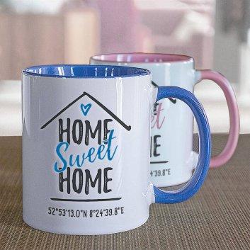 Tasse mit Home Sweet Home Motiv
