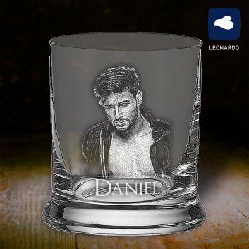 Whisky Becher mit Fotogravur von Leonardo