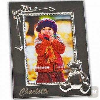 Kinderrahmen Bim mit Gravur 9 x 13 mit Bärdesign und Foto von lachendem Kind