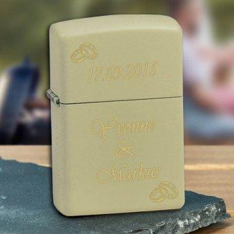 Zippo Feuerzeug Cream Matte mit Gravur