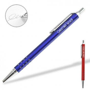 UMA Kugelschreiber Slim mit Gravur und schwarz schreibender Mine