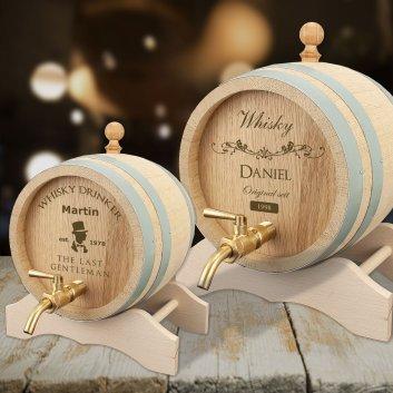 Whiskyfass mit Gravur in 1 und 3 Liter