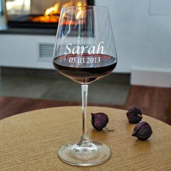 Premium Rotweinglas mit Gravur