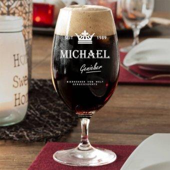 Bierglas mit Namen und Label von Spiegelau