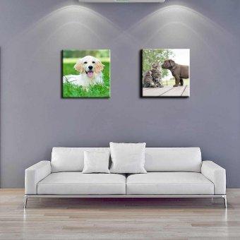 Fotoleinwand mit einem Foto von einem Hund in Format 30x30 cm