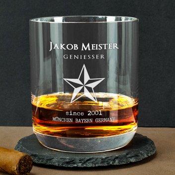 Whisky Tumbler mit Designgravur