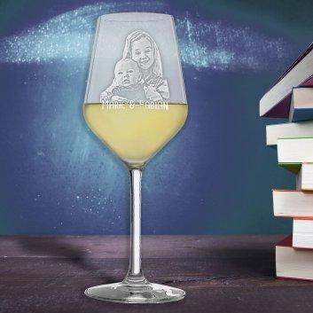 Weißweinglas Revolution von Stölzle mit Fotogravur