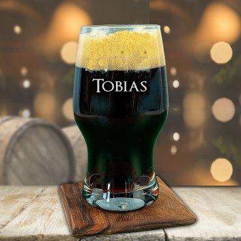 Craft Beer Glas graviert mit Namen Tobias